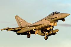 ZJ923 11(F)SQN Typhoon (PhoenixFlyer2008) Tags: royalairforce moray scotland lossiemouth eurofighter typhoon landing rwy23 aviation fastjet aircraft fighter pilot canon avgeek