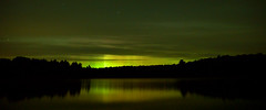 my fav from the night/morning (Wil James) Tags: sonyilca99m2 zeiss2470 northernlights reflection lake water nightsky kawarthalakesphotographer ontario longexposure canada
