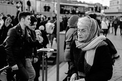 candit (㋡ Aziz) Tags: old candit portrait face woman new young bw blackandwhite street istanbul xh1 35mm fujifilm light contrast dof outdoor outside streetphotography people city life crowd