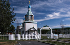 Russian Orthodox Church, Alaska (Linnea from Sweden) Tags: nikon d7000 cosina af 1935mm 3545 mc russian orthodox church alaska russianorthodoxchurch russianchurch orthodoxchurch summer travel