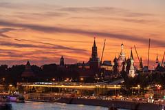 Evening Moscow (gubanov77) Tags: moscow russia dusk sunset evening august summer goldenhour redsquare kremlin moscowkremlin cityscape city urban landscape sky skyline moskvariver moscowphotography zaryadyepark