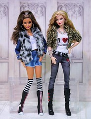 Plush animal prints for fall (Annette29aag) Tags: doll dollphotography photography duo fashionista madetomove barbie fashion