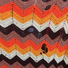 A beloved crochet blanket (crochetbug13) Tags: crochet crocheted crocheting texturedcrochetbag texturedcrochettote grannysquares ripplecrochetafghan ripple blanket