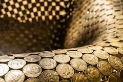 Array of Coins (me.darren) Tags: coin money currency closeup gold cash saving treasure metal