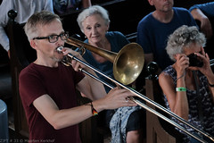Bone Chrusher - Den Ham (16 van 20) (Maarten Kerkhof) Tags: bonecrusher denham fujifilmxe2 liveonstage matthiasmüller trombone zomerjazzfietstour2019 xe2