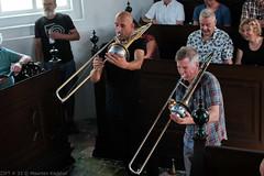 Bone Chrusher - Den Ham (14 van 20) (Maarten Kerkhof) Tags: bonecrusher denham fujifilmxe2 jebbishop liveonstage matthiasmuche trombone zomerjazzfietstour2019 xe2