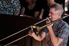Bone Chrusher - Den Ham (5 van 20) (Maarten Kerkhof) Tags: bonecrusher denham fujifilmxe2 jebbishop liveonstage trombone zomerjazzfietstour2019 xe2