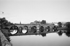 Devorgilla (bigalid) Tags: film 35mm ilford xp2 disposable singleuse august 2019 c41 bw river nith dumfries devorgilla bridge