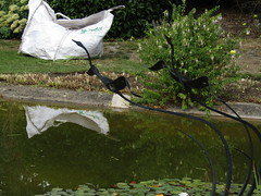 IMG_6175 (belight7) Tags: water art metal birds pond entrance stoke poges memorial garden uk england stokepoges
