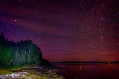 Aurora, but a weak one (Brett of Binnshire) Tags: night usa hancockcounty binnshire bay auroraborealis longexposure ocean locationrecorded scenic lightpainting shoreline gouldsboro astrolandscape water photographictechnique maine northernlights