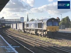 DIRECT RAIL SERVICES 66427 TESCO LINER GLOUCESTER 01092019 (MATT WILLIS VIDEO PRODUCTIONS) Tags: direct rail services 66427 tesco liner gloucester 01092019