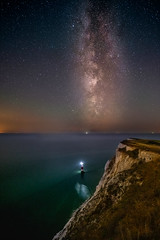 Catching the Milky Way at Beachy Head (lloydlane) Tags: night landscape sussex astro beachyhead milkyway southdowns