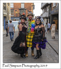 Threes a crowd (Paul Simpson Photography) Tags: steampunk lincolnasylumsteampunk2019 cosplay costumes lincoln lincolnshire sonya7iii people hats goggles paulsimpsonphotography imagesof imageof photosof photoof hat uk england costume boots
