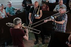 Bone Chrusher - Den Ham (19 van 20) (Maarten Kerkhof) Tags: bonecrusher denham fujifilmxe2 jebbishop liveonstage matthiasmuche matthiasmüller trombone zomerjazzfietstour2019 xe2