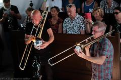 Bone Chrusher - Den Ham (10 van 20) (Maarten Kerkhof) Tags: bonecrusher denham fujifilmxe2 jebbishop liveonstage matthiasmuche trombone zomerjazzfietstour2019 xe2