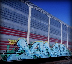 (timetomakethepasta) Tags: knab hof vds freight train graffiti art ferromex autorack fxe