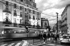 an ordinary afternoon... (Peppis) Tags: torino piemonte turin tram bn biancoenero bw blackandwhite bestimageofitaly giuseppecostanzo peppis anticando angoli centrostorico nikon nikond7000 nationalgeographic nikonclubit