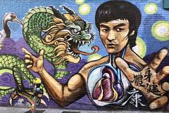 Bruce Lee mural (monique.m.kreutzer) Tags: brucelee martialarts chinatown sanfrancisco mural streetart