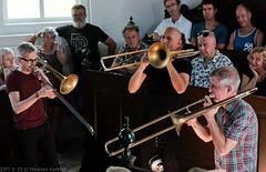 Bone Chrusher - Den Ham (12 van 20) (Maarten Kerkhof) Tags: bonecrusher denham fujifilmxe2 jebbishop liveonstage matthiasmuche matthiasmüller trombone zomerjazzfietstour2019 xe2
