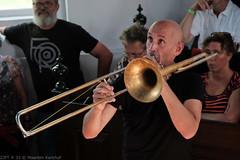 Bone Chrusher - Den Ham (11 van 20) (Maarten Kerkhof) Tags: bonecrusher denham fujifilmxe2 liveonstage matthiasmuche trombone zomerjazzfietstour2019 xe2