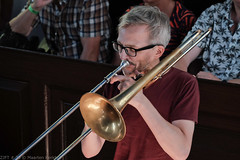 Bone Chrusher - Den Ham (6 van 20) (Maarten Kerkhof) Tags: bonecrusher denham fujifilmxe2 liveonstage matthiasmüller trombone zomerjazzfietstour2019 xe2