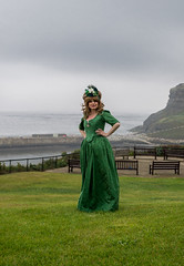The Green Goddess (daveseargeant) Tags: whitby west cliff green goddess north yorkshire coast seaside sea coastal steampunk july 2019 goth gothic event festival nikon df 50mm 18g