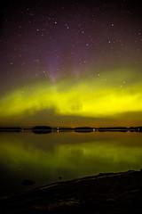 Norden lights in Kuopio (VisitLakeland) Tags: finland kuopio kuopiotahko lakeland aurora auroraborealis evening ilta järvi lake luonto maisema nature northernlight outdoor revontulet revontuli scenery sky taivas
