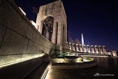 WW2 Memorial, Washington DC (Matt Straite Photography) Tags: washington monument washingtonmonument color light night dark nocternal capitol dc tripod water
