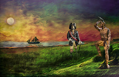 The Joppa Morning Agreement (Rusty Russ) Tags: joppa flats newburyport ma pirate captain indian chief peace colorful day digital flickr country bright happy colour scenic america world sunset sky red nature blue white tree green art light sun cloud park landscape summer old new photoshop google bing yahoo stumbleupon getty national geographic creative composite manipulation hue pinterest blog twitter comons wiki pixel artistic topaz filter on1 sunshine image reddit tinder russ seidel facebook timber unique unusual fascinating