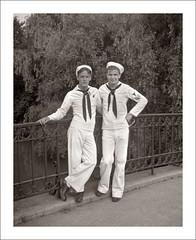 Fashion 0046-03 (Steve Given) Tags: socialhistory familyhistory fashion sailors friends uniform navy