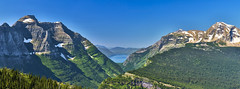 Highline Hiking (Valley Imagery) Tags: panorama highline trail glacier national park lake mcdonald mountains snow landscape vista blue sky sony a99ii 70400gii polariser