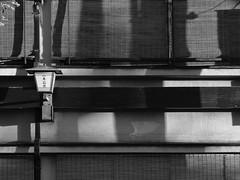 Blinds in Shadow (Nick Condon) Tags: blackandwhite japan kyoto olympus45mm olympusem10 shadow wall