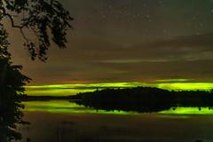 Obsured Aurora - Becker County, MN (j-rye) Tags: sonyalpha sonya7rm2 ilce7rm2 mirrorless auroraborealis northernlights nature night water stars