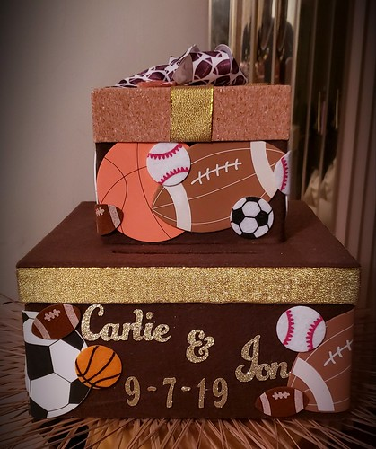 Gift Card Box Sports Themed For An Informal Wedding