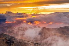 Crater Lake Sunset [Explore] (Tom Fenske Photography) Tags: craterlake sunset orange fire lake nationalpark oregon contest natureconservancy pnw sky clouds weather volcano mazama mtscott mountain cascades