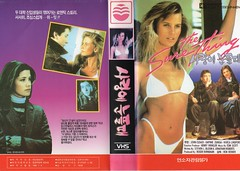 """Seoul Korea vintage VHS cover art for """"The Sure Thing"""" (1985) - """"80s Luv"""" (moreska) Tags: seoul korea vintage vhs coverart 1985 thesurething retro classic bikini cute blonde beauty oldschool nostalgia 1980s rob reiner comedy hit hollywood videocassette graphics fonts hangul collectibles archive museum rok asia"""