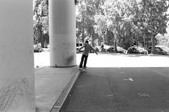 7.27.19_MCW_HP5-11 (arterial spray) Tags: 35mm 400 bw bayarea black boxspeed building ca california curb dalliswillard dalliswillardphotography embarcadero f100 film hp5 ilford nikon sanfrancisco session sf siliconvalley skate skateboarding skater skyline slappy transamerica white