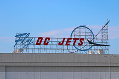 Fly DC Jets - Long Beach, CA (jebzphoto) Tags: sign signs signage vintage planes plane airlines airline airliner airliners airplane airplanes aviation aircraft planespotting flight los angeles international airport airports klax lax commercial long beach retro old
