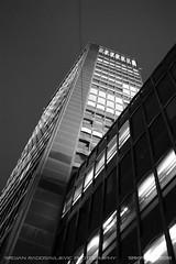 Beogradjanka (b&w) 1 (srkirad) Tags: architecture building skyscraper beograđanka beogradjanka belgrade beograd serbia srbija night perspective dramatic angle sky dark blackandwhite bw greyscale monochrome