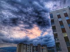 One violet summer sunset in Skopje (petartrajkov) Tags: