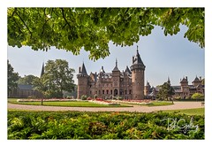 Househunting (Bob Geilings) Tags: castle water 12thcentury bluesky architecture tree frame mood netherlands museum garden landscape