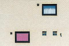 Two, but different (jefvandenhoute) Tags: belgium belgië leuven wall windows geometric shapes