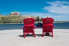 Enjoying the view (alanrharris53) Tags: canada waterton alberta view princeofwales hotel chairs red
