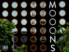MOOONS (heinzkren) Tags: fassade facade contemporary building wien vienna gebäude front hotel windows fenster geometry color outdoor spiegelung reflection reflexion panasonic lumix gx8 pattern muster rings ringe abstract innamoramento