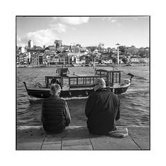 father & son • porto, portugal • 2019 (lem's) Tags: father son pere fils sea side dock port bord de mar boat bateau porto portugal rolleiflex t