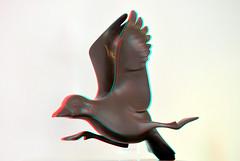 Evert Den Hartog by Morren Utrecht 3D (wim hoppenbrouwers) Tags: evertdenhartog by morren utrech t3d anaglyph stereo redcyan eend duck brons bronze