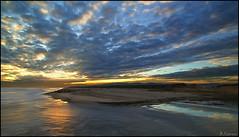 Sunset. (antoniocamero21) Tags: sunset color foto sony atardecer agua delta llobregat nubes cielo reflejos playa barcelona catalunya