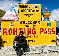 Trans Himalayan Ride (rajnishjaiswal) Tags: bike bikeride offroading biking rohtangpass himalayas mountains mountain snowcoveredmountain portrait selfportrait rider iphonography shotoniphone