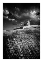 Belle Tout Lighthouse / September 1st (Edd Allen) Tags: landscape country countryside clouds infrared blackandwhite bw monochrome foliage eastsussex uk southeast england greatbritain nikond610 nikon d610 zeissdistagon18mm serene bucolic architecture lighthouse belletout cliffs eastbourne sunset