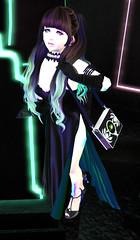 KI_09.02.2019 (KyuketsukiHime) Tags: secondlife lovelyalien fashion black green teal neon dark